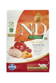 N&D GF Pumpkin CAT NEUTERED Quail & Pomegranate 300g